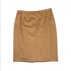 Christian Dior Boutique Camel and Silk Skirt